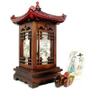 석탑사군자스탠드 한지스탠드,전통공예선물,한지조명장식,외국인선물